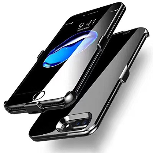 iPhone 6/6s/7 Plus Battery Case, GIZEE Ultra Slim 4000 mAh Portable Protective Rechargeable Charging Case for Apple iPhone 6 Plus/ iPhone 6S Plus/ iPhone 7 Plus 5.5 Inch - Jet Black