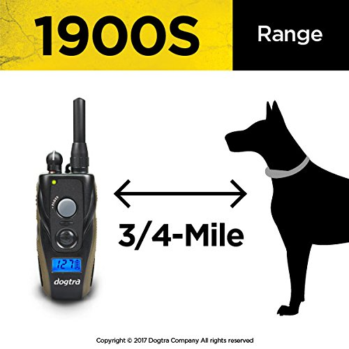 Dogtra 1900S Remote Training Collar - 3/4 Mile Range, Waterproof, Rechargeable, Shock, Vibration - includes PetsTEK Dog Training Clicker by Dogtra (Image #5)