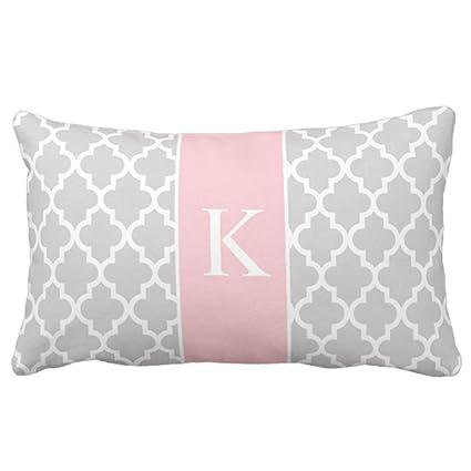 Amazon.com Emvency Throw Pillow Cover Grey Light Pink