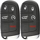 KeylessOption Keyless Entry Remote Starter Car Smart Key Fob for Dodge Durango Journey M3N-40821302 (Pack of 2)