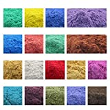 900g Cosmetic Grade Natural Mica Powder Pigment for DIY Soap Candle Making,Eye Shadow, Toiletry Crafter, Colorant Dye 18 Colors (50 Grams Each, 900 Grams Total)