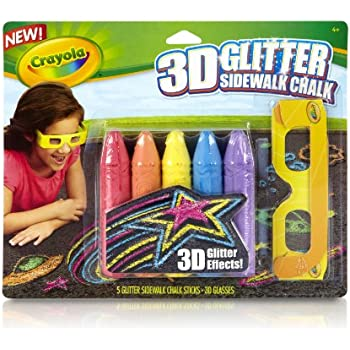 free shipping crayola 3 d neon washable sidewalk chalk