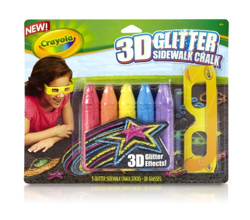 Crayola 3D Glitter Chalk Pack - Paint Dark Glow How In The Make A To