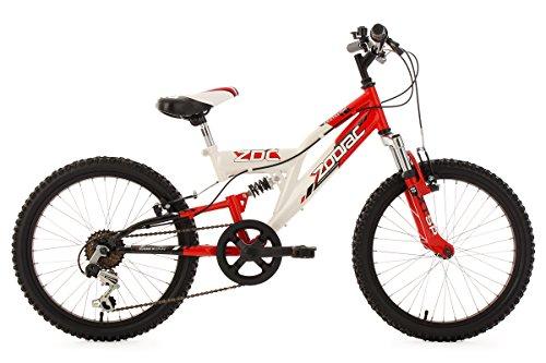 KS Cycling Jungen Fahrrad Kinderfahrrad Mountainbike Fully Zodiac, Weiß, 20, 601K