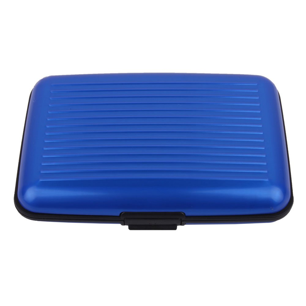 niceEshop(TM) Aluminum Waterproof Antimagnetic Credit Card / Business Card / Name Card Holder / Wallet / Case -Blue