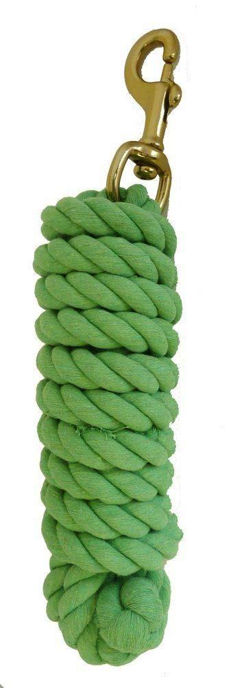 プレミアムコットンHorseリードロープ真鍮ボルトスナップ10 ftライムグリーン   B003R6C3VI