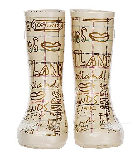 Fashionback Women&39s Multi-Colored Rain Boots 85%OFF