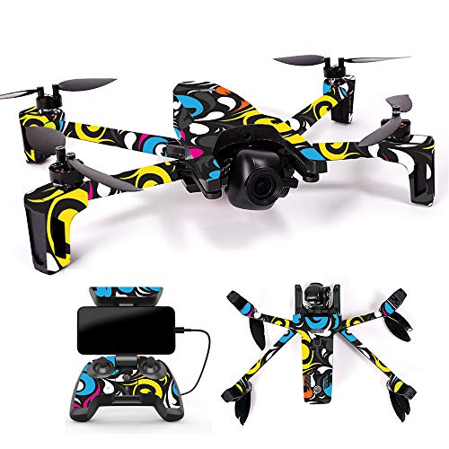 MightySkins Skin for Parrot Anafi Drone - Swirly   Protective, Durable, and Unique Vinyl Decal wrap Cover   Easy to Apply, Remove, and Change Styles   Made in The USA