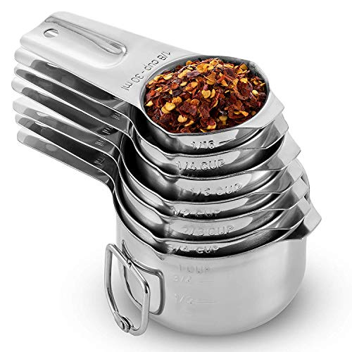 Homepixi Stainless Steel Stackable Measuring Cup Set (Set of 7) Price & Reviews