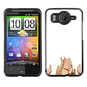 CASEMAX Slim Hard Case Cover Armor Shell FOR HTC G10- Funny - THUMBS UP