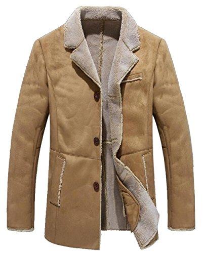 JIAX Men's Business Military Lapel Jacket Winter Thicken ...