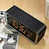 xingganglengyin Wireless Bluetooth Speaker Big Screen Clock Dual Speaker Subwoofer Card Speaker Radio