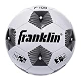 Franklin Sports Competition 100 Soccer Ball (Size 3, Assorted Colors), White/Black