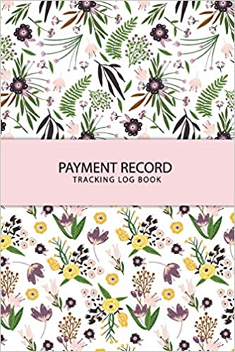 payment record tracking log book cute flower money management check