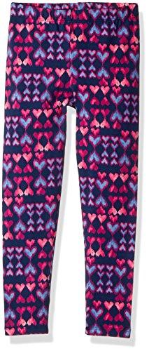 Osh Kosh Girls' Kids Full Length Legging, Turquoise Hearts, 7 (Oshkosh Heart)