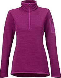 Burton Women's AK Lift Half Zip Fleece Top, Heathered Grapeseed, Medium