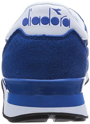 Diadora Mens Camaro Chaussure De Course Bleu Reflux / Blanc