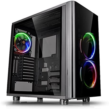 Thermaltake View 31 TG RGB Midi-Tower - Caja de ordenador (PC, SPCC, Vidrio templado, ATX, Micro-ATX, Mini-ITX, Juego), Negro-RGB