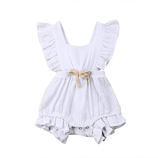 a78048ba7 Amazon.com  Birdfly 3M-24M Toddler Baby Basic Candy Color Ruffle ...