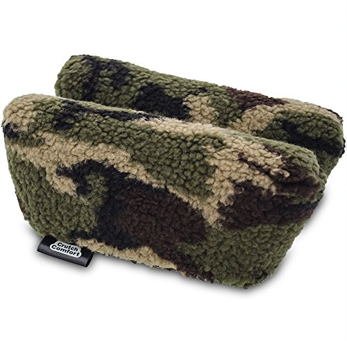 Universal Crutch Underarm Pad Covers - Luxurious Soft Fleece with Sculpted Memory Foam Cores (Army ()