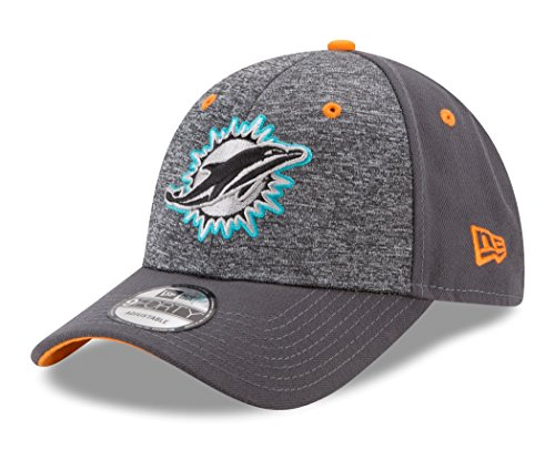 NFL Miami Dolphins Adult Men The League Shadow 2 9FORTY Adjustable Cap, One Size, Graphite
