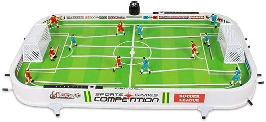 QARYYQ Mesa De Juego De Futbol para Niños 3 Mesa De Escritorio 6 Años 7 Máquina De Juego Doble Batalla 9 Desarrollo Intelectual 10 Niños 61x35cm Juguete: Amazon.es: Hogar