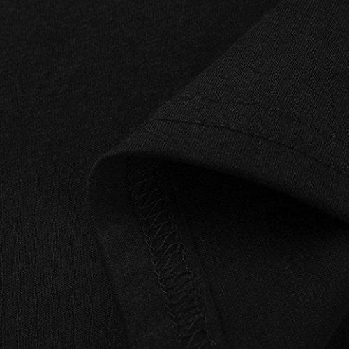 Estate Elegante Corta shirt Stampato neck Da Donna,meibax Camicetta Serbatoio Casuale Nero Ritaglia Vintage V T Top Donne Manica Pianeta Camicia Camicie Maglietta AArwgSqxt