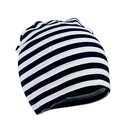 Striped Beanie Cap - Century Star Baby's Lovely Cotton Beanies Multi-color Newborn Baby's Soft Cute Striped Cap Hats A Black White Stripes