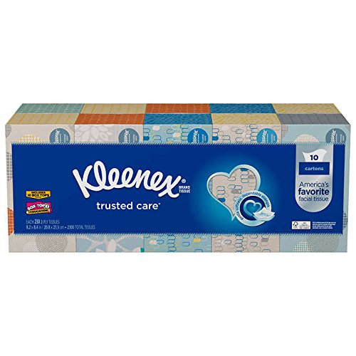 Kleenex Facial, 10 Pack-230 Tissues in Each Box, White