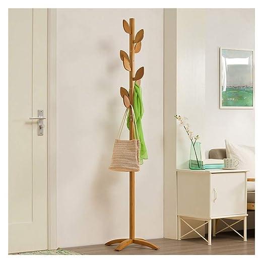 FU_BIN Percheros de pie 175CM Macizos de bambú macizo ...