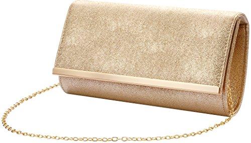 Bridal Purse Clutch Party Gold Womens shoulder Bag B Evening Prom bag Wedding Handbag aE8wTqn