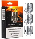 Smok V8 X-Baby Q2 Coil 0.4 Ohm for TFV8 X Baby Tank,Stick X8 Kit and G-priv 2 Kit, Pack of 3