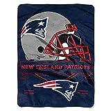 The Northwest Company NFL New England Patriots Prestige Plush Raschel Blanket, 60″ x 80″, Blue