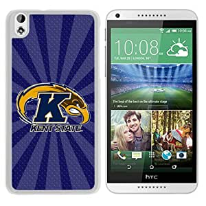 NCAA Kent State Golden Flashes 2 White Hard Phone Case For HTC Desire 816