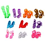 Urparcel 10 Pairs of Doll Shoes, Fit Barbie Dolls