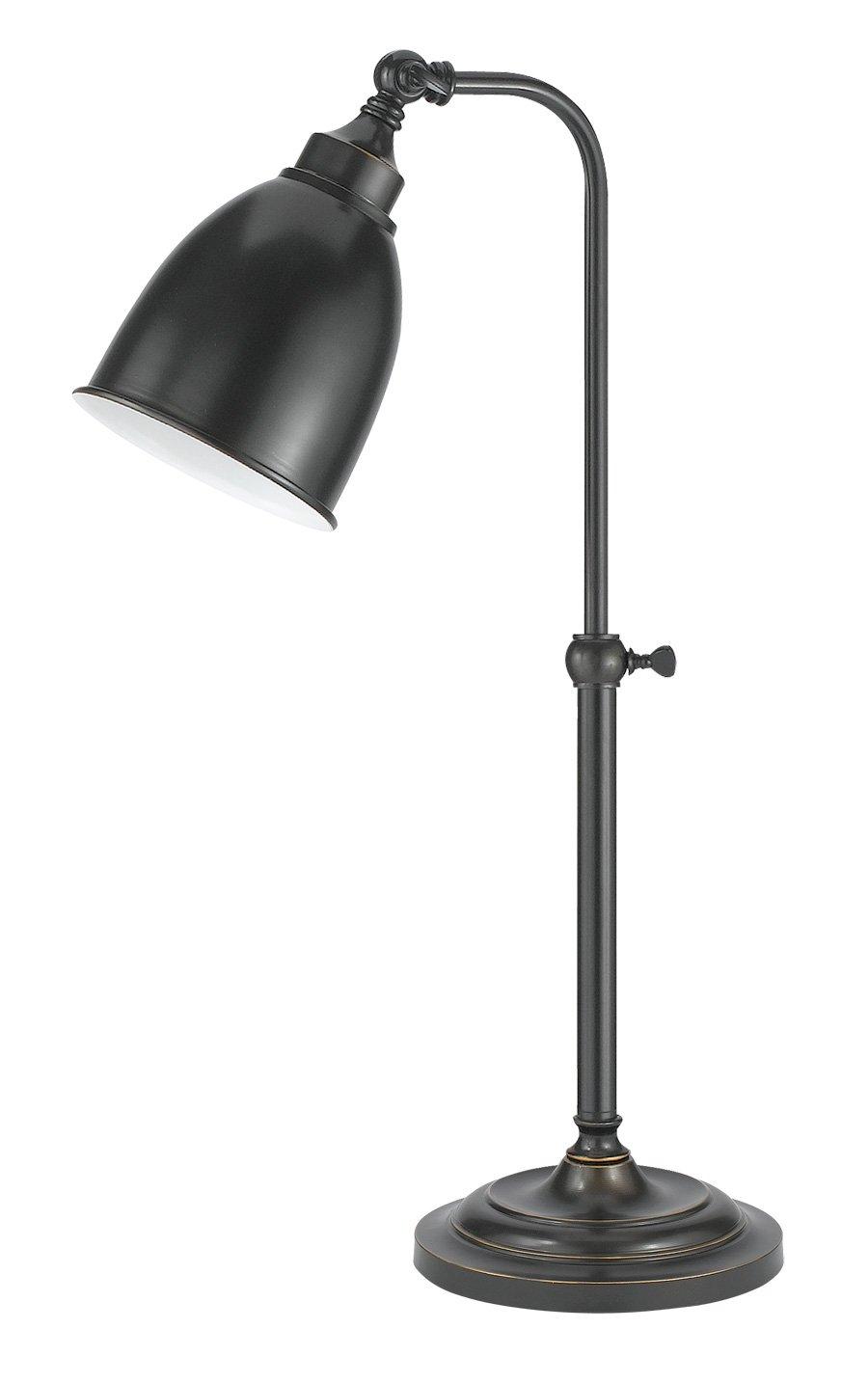 Cal Lighting BO-2032TB-DB Table Lamp with Metal Shades, Dark Bronze Finish