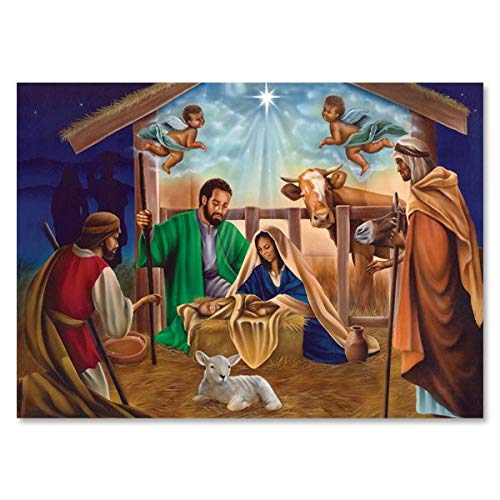 """Health & Personal Care : African American Expressions - Maya Angelou's Nativty Boxed Christmas Cards (5"""" x 7"""") C-946"""