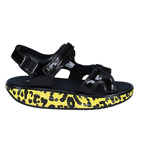 MBT Kisumu 3s lemon leopard lemon Damen Sandale Lemon leopard