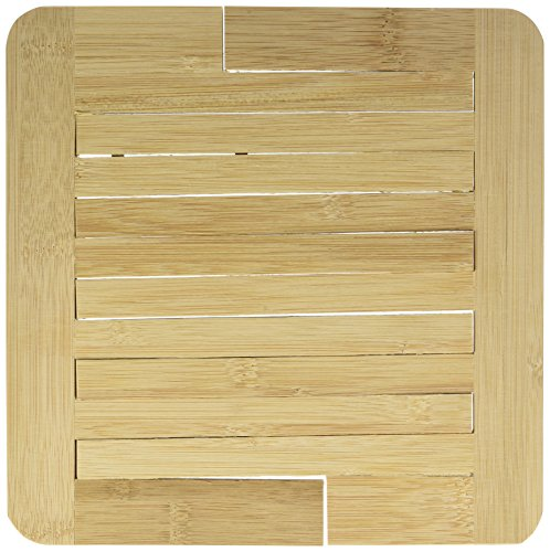 Totally Addict ka2137 Bamboo Expandable Trivet 20-30 cm, 30.5 x 21.5 x 1.3 cm, Brown