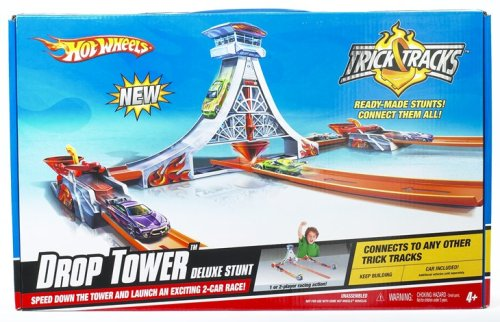 Hot Wheels Power Tower - Mattel Hot Wheels Trick Tracks Drop Tower Deluxe Stunt
