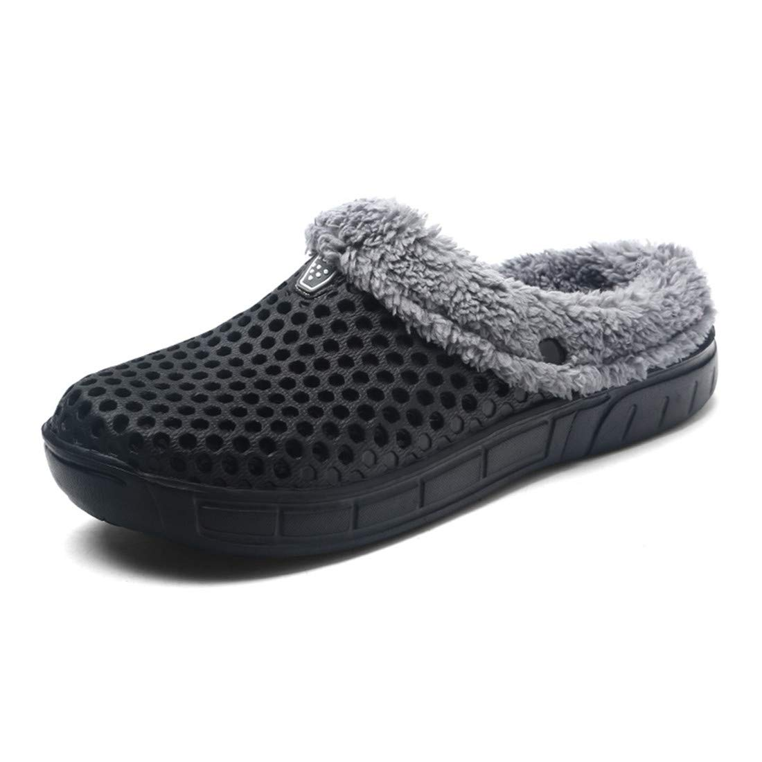 Sunny Holiday Winter Mules Clogs Slippers Men Women Lightweight - Men\'s Indoor Garden Shoes Women\'s Warm Fur Lined House Shoes