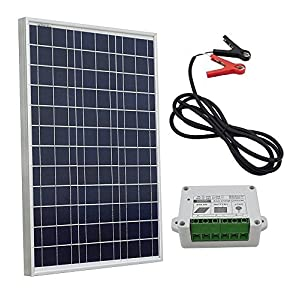 51XVwbV56EL. SS300  - ECO-WORTHY 10w 20w 30w 50w Solar Panel Kit for 12V Battery Charging