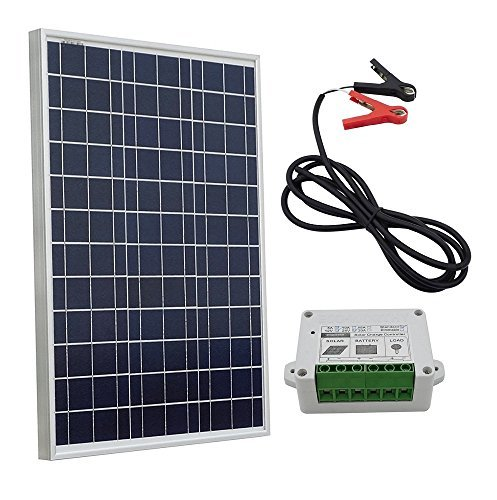 ECO-WORTHY 10W 12V Portable Waterproof PV Polycrystalline Solar Panel System Kit With Charge Controller