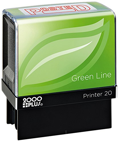 2000 PLUS Green Line Self-Inking Message Stamp, Posted, 80% Recycled, 1 1/2