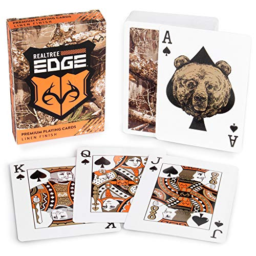 Realtree Edge Woodland Camouflage Playing Card Deck - Premium Playing Cards Bulk Set - Tabletop Games, Hobbies, and Accessories - Cool Collector Items, Toys, Activities for Boys from Brybelly