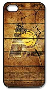 LZHCASE Personalized Protective Case for iphone 5 - NBA Sports Indiana Pacers Logo in Wood Background
