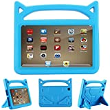 Fire HD 8 Kids Case, Mr. Spades - Kids Friendly Shock Proof Handle Convertible Stand Case for Fire HD 8 Tablet (6th Generation, 2016 Release and 7th Generation, 2017 Release) (Blue)