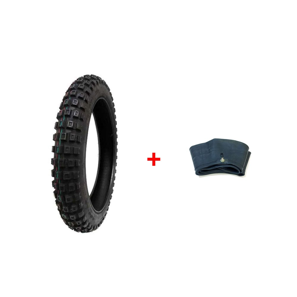 COMBO: Dirt Bike TIRE Size 3.00-16 + INNER TUBE Size 2.75/3.00-16 TR4 Valve Stem MMG MGTSi_3-00-16_Dirt_Bike