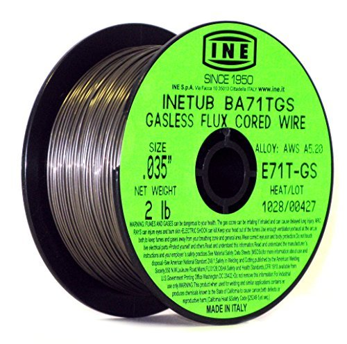 INETUB BA71TGS .035-Inch on 2-Pound Spool Carbon Steel Gasless Flux Cored Welding Wire by INE USA Since 1950 by INE USA Since 1950