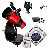 Astroscan Millennium Dobsonian Reflector Portable Telescope with Azimuth Mount, Star and Planet Locator - Deluxe Kit